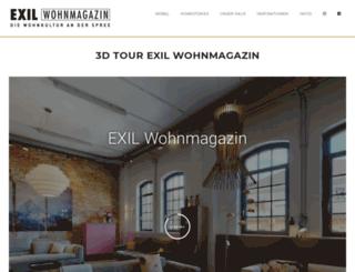 exil-wohnmagazin.de screenshot