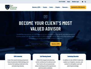 exit-planning-institute.org screenshot