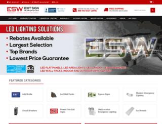 exitsignwarehouse.com screenshot