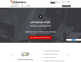 exleasingcar.si screenshot