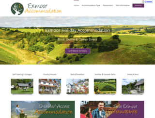exmoor-accommodation.co.uk screenshot