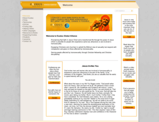 exodusglobalalliance.org screenshot