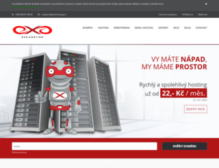 exohosting.cz screenshot