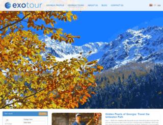 exotour.ge screenshot