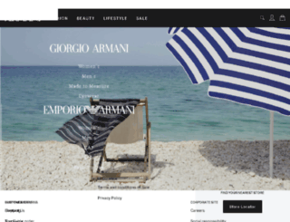 experience.emporioarmani.com screenshot