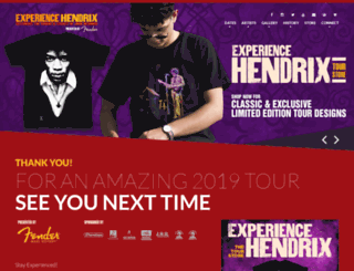 experiencehendrixtour.com screenshot