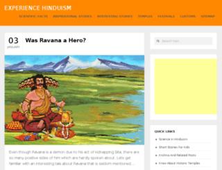 experiencehinduism.com screenshot