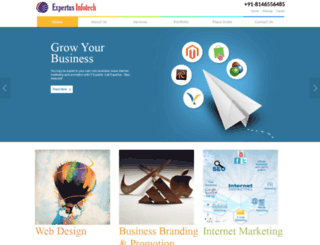 expertusinfotech.org screenshot
