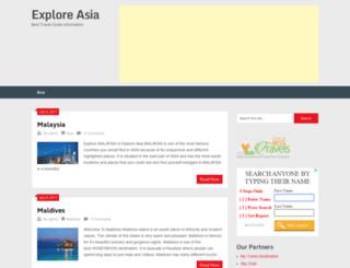 exploreasia.in screenshot