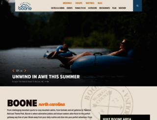 exploreboone.com screenshot