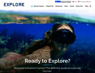 explorecayman.com screenshot