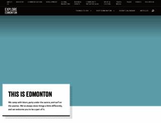 exploreedmonton.com screenshot