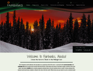 explorefairbanks.com screenshot