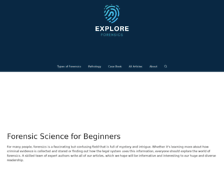exploreforensics.co.uk screenshot
