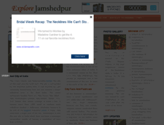 explorejamshedpur.com screenshot
