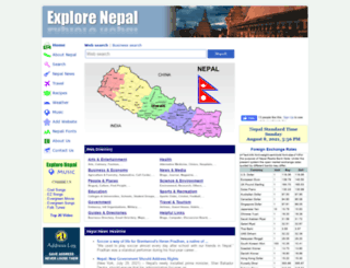 explorenepal.com screenshot