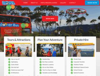 explorerbus.com.au screenshot