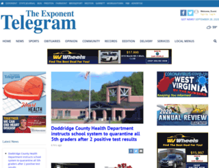 exponent-telegram.com screenshot