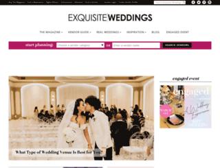exquisiteweddingsmagazine.com screenshot