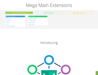 extensions.megamain.com screenshot
