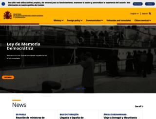 exteriores.gob.es screenshot