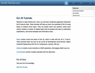 extjs-tutorial.com screenshot
