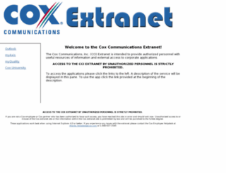 extranet.cox.com screenshot