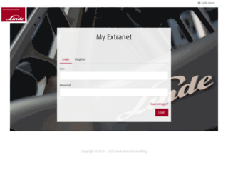 extranet.linde-mh.com screenshot