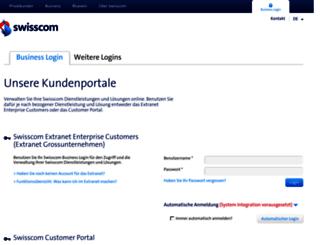 extranet.swisscom.ch screenshot