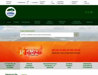 extrema.mg.gov.br screenshot