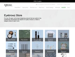 eyebrowzstore.com screenshot