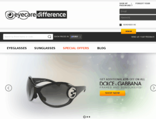eyecaredifference.com screenshot