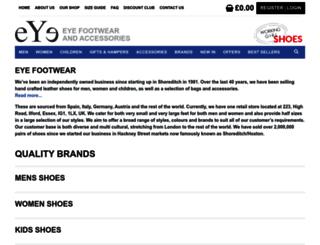 eyefootwear.com screenshot
