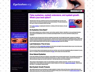 eyelashes.org screenshot