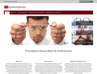 eyewearglasses.co.uk screenshot