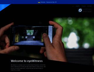 eyewitnessproject.info screenshot