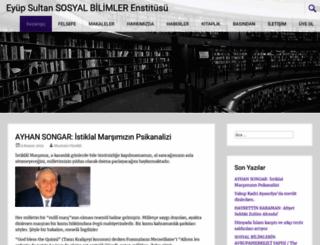 eyupsultanenstitusu.com screenshot
