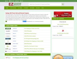 ezcouponsearch.com screenshot