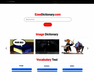 ezeedictionary.com screenshot