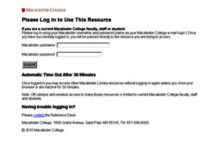 ezproxy.macalester.edu screenshot