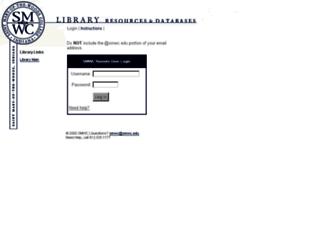 ezproxy.smwc.edu screenshot