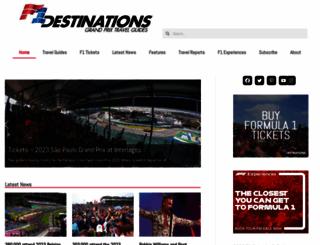 f1destinations.com screenshot