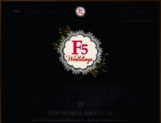 f5weddings.com screenshot