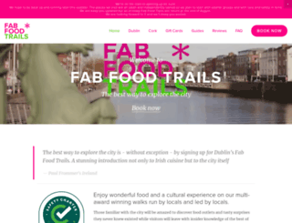 fabfoodtrails.ie screenshot