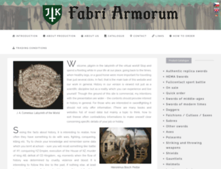 fabri-armorum.com screenshot