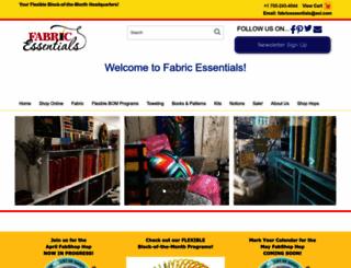 fabricessentials.com screenshot