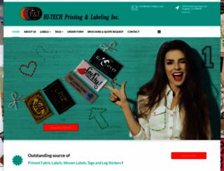fabriclabels.com screenshot