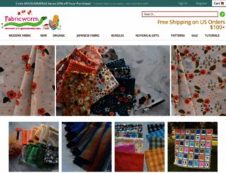 fabricworm.com screenshot