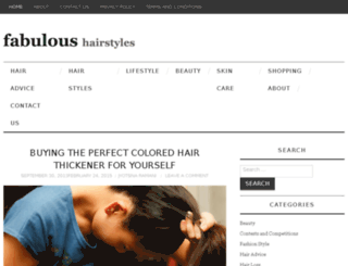 fabuloushairstyles.net screenshot