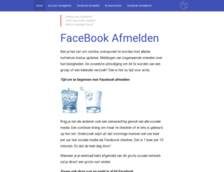 facebookafmelden.nl screenshot